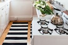Kitchen Rugs & Runners / A rug or runner can add a splash of colour and personality to your kitchen...as well as keeping your toes cosy!