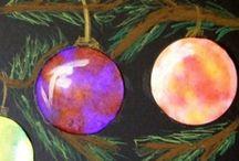 JOULU  CHRISTMAS / Koulu lapset kuvis joulu askartelu