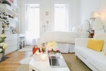 NYC Apartment - Small Spaces / Living in New York City means sacrificing space. It doesn't mean you have to sacrifice style. Here are some NYC small space ideas that we absolutely love.