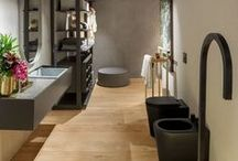 Bath / Explore the different flooring options for beautiful bathroom designs with Hakwood hardwood flooring products.