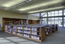 K-12 Libraries / Our state-of-the-art libraries feature natural lighting and creative thinking spaces