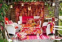 Bohemian garden & balcony / Inspiration for your boho gypsy garden or balcony