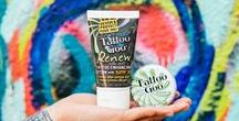 Vibrant Ink / We love ink that's as bright as the graffitied walls of street art. And the keys to keeping ink vibrant are moisturization and sun protection. Never fear; our Tattoo Goo Salve and Tattoo Goo Lotion are the perfect solutions for rejuvenating skin with healing or healed ink, and our Tattoo Goo Renew with SPF30+ is the go-to for keeping healed ink sun protected and fade free.