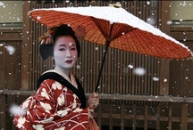 "Geishas / Nippon <3 / ""Geisha (芸者?), geiko (芸子) or geigi (芸妓) are traditional Japanese female entertainers who act as hostesses and whose skills include performing various Japanese arts such as classical music, dance and games."" (Wikipedia)"