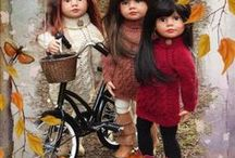 Autumn Knits / Created to showcase some popular designs from my fall collection Designed to fit Slim Gotz Happy/Classic Kidz Dolls & the slim Kidz 'n' Cats, also outfits for American Girl Dolls and the comparable 18in Gotz Dolls