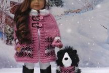 Winter Knits / Designed to fit American Girl Dolls and the comparable 18in Gotz Dolls, also for Gotz Kidz & the slim Kidz 'n' Cats dolls
