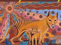 Animal Dreamings / These paintings will be made into a 44 card deck and children's dreamtime book. In the meantime purchase postcards, gift cards and prints as they become available in the online store - www.dreamsofcreation.com No: 22 & 23 are in the process of being painted...Hope you get to see the exhibit of these spectacular paintings up close & personal one day to be displayed in a Worldwide International traveling exhibition. Comment if you want to be included in this special display via invitation.
