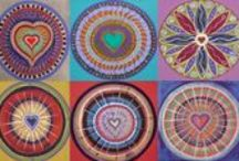 Meditation Mandalas / This is yet another style that I create which contains sacred symbols around a central focal point for those who wish to meditate and go within & beyond for answers like me.