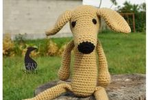 AMIGURUMI / Crocheted greyhounds/galgos