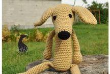 AMIGURUMI / Crocheted greyhounds/galgos