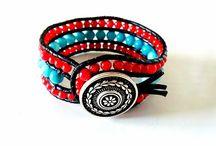 my handmade bracelets / Colour mix  semiprecious
