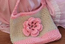 Bags and crochet flowers