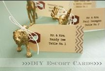 (Escort Cards) / Escort cards allow you to direct your guests to their specific tables at your wedding. / by DIY Wedding Planning