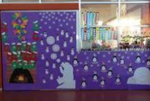 Classroom doors & bulletin boards