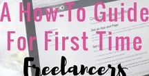 Freelancing / This board has tips and resources and places to find work for freelancers. #freelance #freelancer