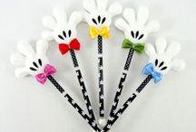 Ponteira de lápis com personagens / Ponteira de lápis ou caneta com vários personagens para lembrancinhas de festas temáticas infantis de aniversário.