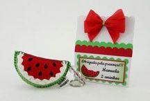 Melancia / Lembrancinhas de melancia para festas de aniversário, chá de cozinha e outros eventos.