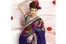 Party & Festival Sarees / Digital Sarees - Latest Indian Fashion - Shipping all over the world - Indian Bridal Wear, Festival and Party Sarees and Party Salwar-kameez, Indian Traditional Wear, Bollywood costumes and sarees - At Leading Store - http://20Offers.com/