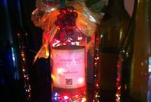 DIY wine bottle creations