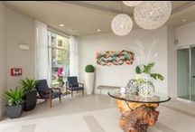 Entrance Lobby / Entrance lobbies to multifamily and multi functional areas.
