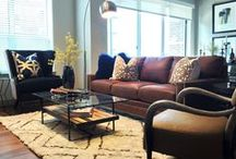 Apartment Living / How to create style with furniture, accent furniture, accent pillows, pictures and wall decor