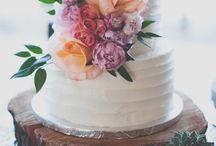 Wedding // Cake / Fancy treat for a fancy feast.  / by Heather Carlson