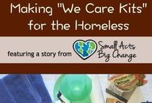 We Care Kits / Our kind kid volunteers create kits filled with essentials for people in-need including the homeless, seriously ill children and the elderly.