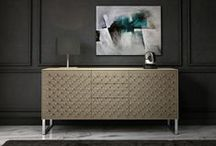 POMO by Thelos / Pomo is a sideboard inspired in the conceptual design movement. A visual game to hide and show the door knobs and drawers from a subtle geometric style which confers an elegant character. Its hypnotic presence gives an unique personality wherever it is placed. Design by Florian Gross