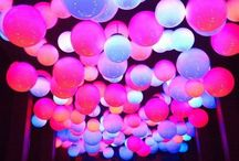 UV, neon & glow in the dark decor / All things glowing for parties and home