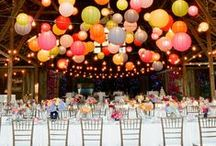 Hanging party decorations