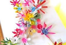 Plastic bottle flowers / Recycled and recyclable plastic flowers