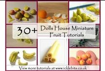 DIY Miniature Food Tutorials / Tutorials for making 12th scale dollhouse miniature food. Mostly using polymer clay.