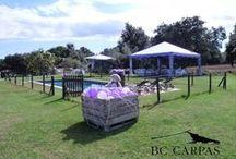 Bautizo con carpa / Christening with tent / Bautizo con carpa. http://www.bc-carpas.com/2013/10/14/te-atreves-con-una-carpa-lavanda-para-un-bautizo/