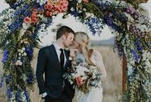 KISS me beneath the flowers / THE best way to add colour, life and romance to your ceremony.  FLOWERS!!!