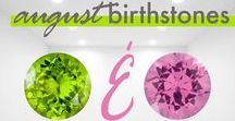 August Birthstones / August's birthstones are Peridot and Spinel. Peridot is lime green in color and believed to instill power and influence upon the wearer. Spinel is known as the daughter of ruby because it's color ranges from a similar deep red to a pastel pink. Shop our collection of pieces inspired by August's Birthstones now.