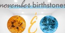 November Birthstones / The birthstones for November are Citrine and Topaz. Citrine is a warm-colored stone that is said to be a gift from the sun. Topaz comes in all colors, but the blue ones are some of the most beloved. Bring good energy to your home with these pieces inspired by citrine and topaz gemstones.