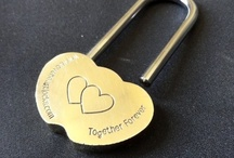 Wedding things, Love Locks, Love Heart Shaped Padlocks. / Lovelocks have been around for a long time. The solid brass love locks are made to last an eternity just like the love of the lovers that have placed them.