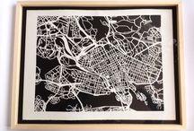 Paper / Hand-cut maps