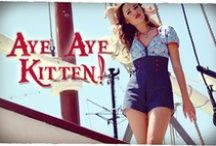 """Aye Aye Kitten / """"Aye Aye Kitten"""" is a playful nautical inspired range featuring a signature Kitten D'Amour print! This gorgeous range will have you ready to sail the seven seas...!"""