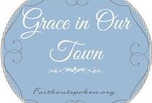 Grace in Our Town / Online devotional printouts, ideas, and study plans.
