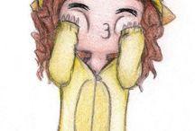 Kawaii / Cute illustration, Kawaii, Comics, Emoticons, Characters & Chibis