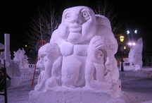 Snow Sculptures / With the help of WOLF-Garten Tools check out the finished work of these fantastic snow sculptures