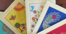 Stitched Handmade Cards / I love embroidered textiles of all kinds.  This includes really  indivdual and special hand stitched cards