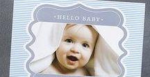 Boy Birth Announcements / Custom printed boy birth announcements in a variety of cute designs!