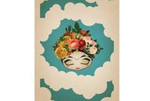 Hey Chica! / Frida Kahlo, Dia de Los Muertos / Day of the Dead, bright colours, fiestas, Mexico and vibrant art.