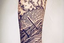 Tattoo - Etching / Engraving style / Lineswork / by Laurent Monniez
