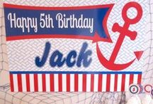 Nautical Theme Party / Make waves at your next preppy party with these Nautical Party Ideas and Supplies!