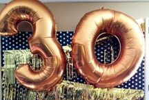 30th Birthday Party Ideas / Turning the big 3-0? Celebrate the right way with these party ideas!