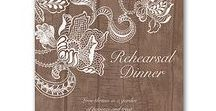 Rehearsal Dinner Invitations & Napkins / Don't forget Rehearsal Dinner Invitations and napkins! Your wedding party, family and friends will be sure not to miss this critical part of the wedding if they know the time and place and fun to follow!