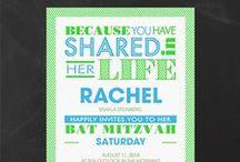 Bat Mitzvah Invitations / Shop our large selection of Bat Mitzvah invitations and thank you notes!